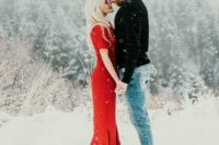 02 if your space is snowy, go outside to enjoy the amazing shoot and a romantic ambience