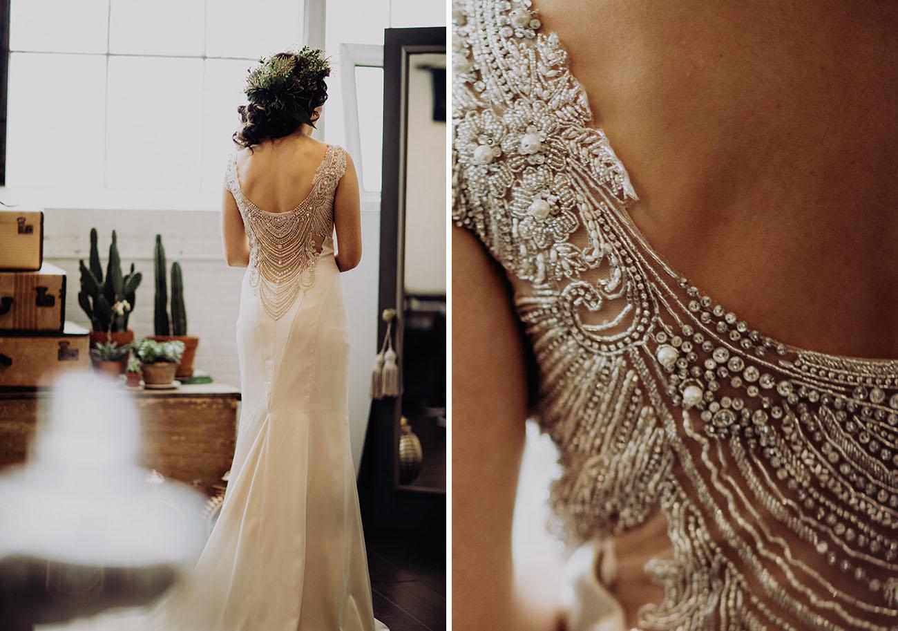 gorgeous art deco bride's look