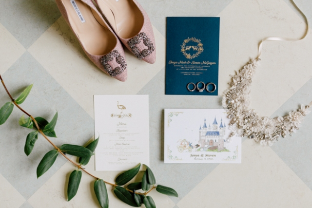 The wedding stationery was elegant, and with a whimsy touch