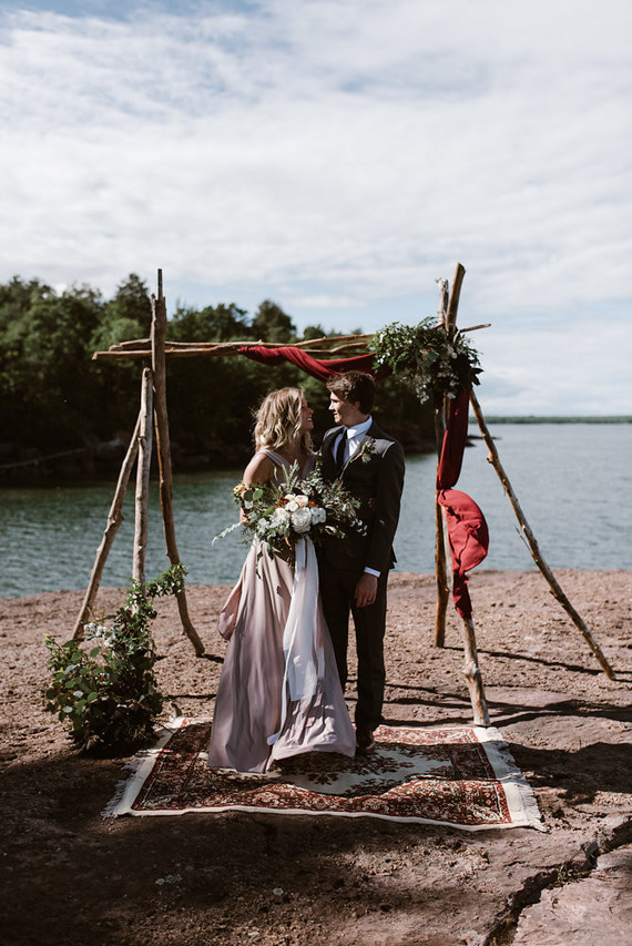 A lake shore is a great place to exchange vows