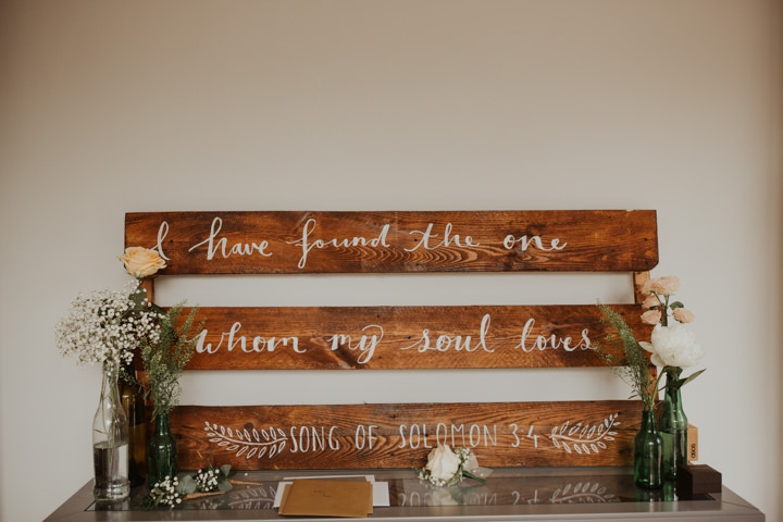 Such signs were also made by the bride herself