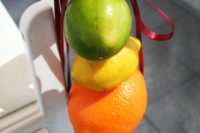 06 decorate the ceremony chairs with all kinds of citrus you like to make the aisle cheerful and colorful