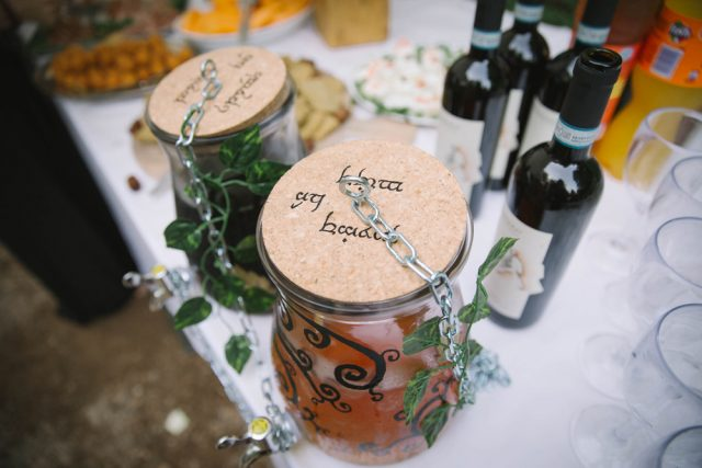 Look at these jars with elvish words, they are styled perfectly