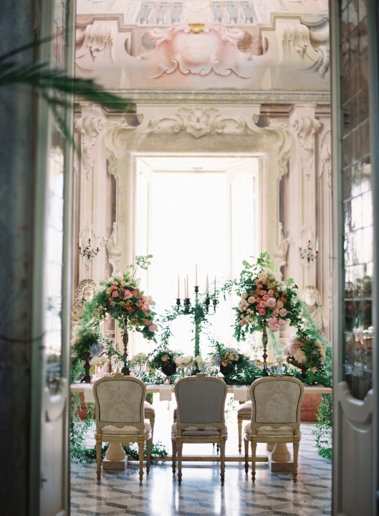 The stunning villa was a source of inspiration for the wedding decor