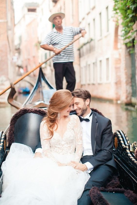 ride a gorgeous gondola after the ceremony to feel the spirit of the city
