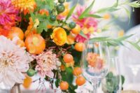 tropical wedding table decor