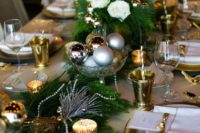 10 a wedding centerpiece of different metallic ornaments in a bowl is easy to make
