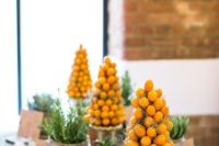 16 cute kumquat topiaries will be cute table decorations or centerpieces