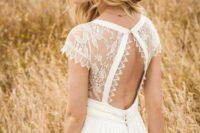 cutout wedding dress