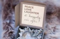 22 a gorgeous heart-shaped Christmas ornament as a personalized wedding favor