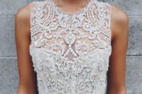 22 a heavily embellished illusion sweetheart neckline bodice looks royal
