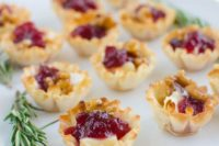 23 cranberry brie bites are ideal for winter and especially Christmas weddings