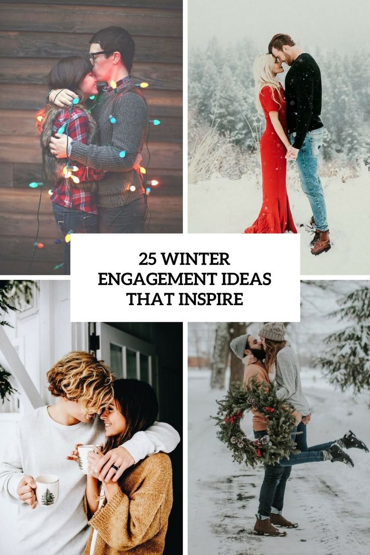 25 winter engagement ideas that inspire - weddingomania