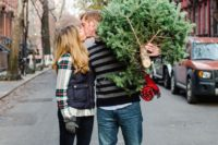 26 choose a Christmas tree during the shoot and incorporate it there