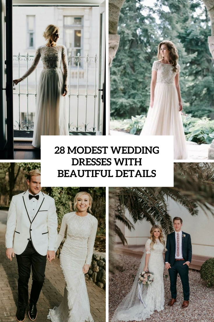 modest wedding dresses with beautiful details cover