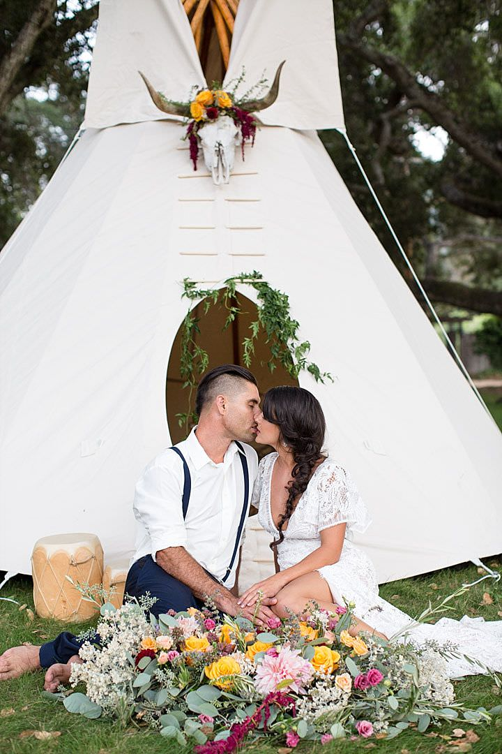 This beautiful wedding shoot will be a source of inspiration for free spirited couples that love boho