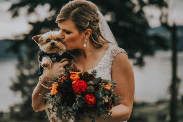 This cozy fall wedding showed how to pull off a rustic theme at its best