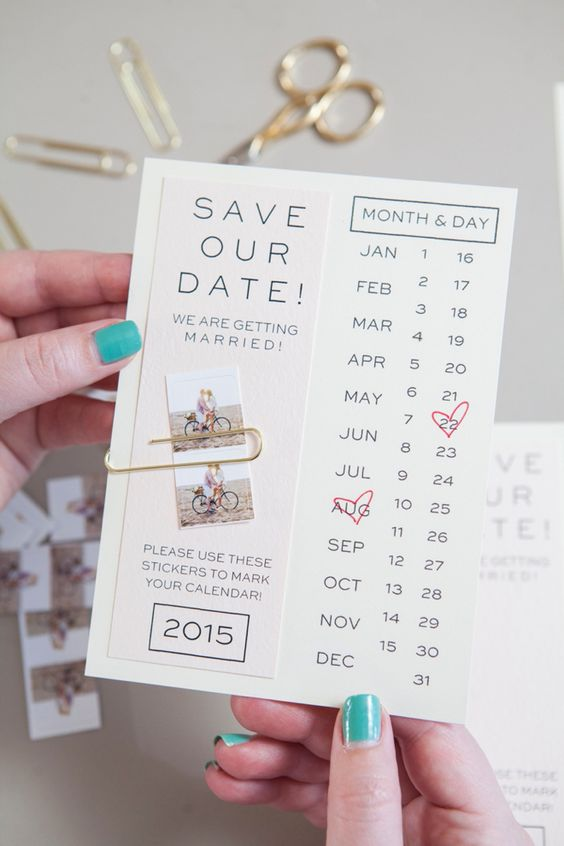Instagram save the date looks cute and modern