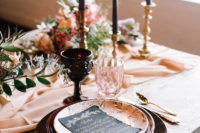 blush wedding decor