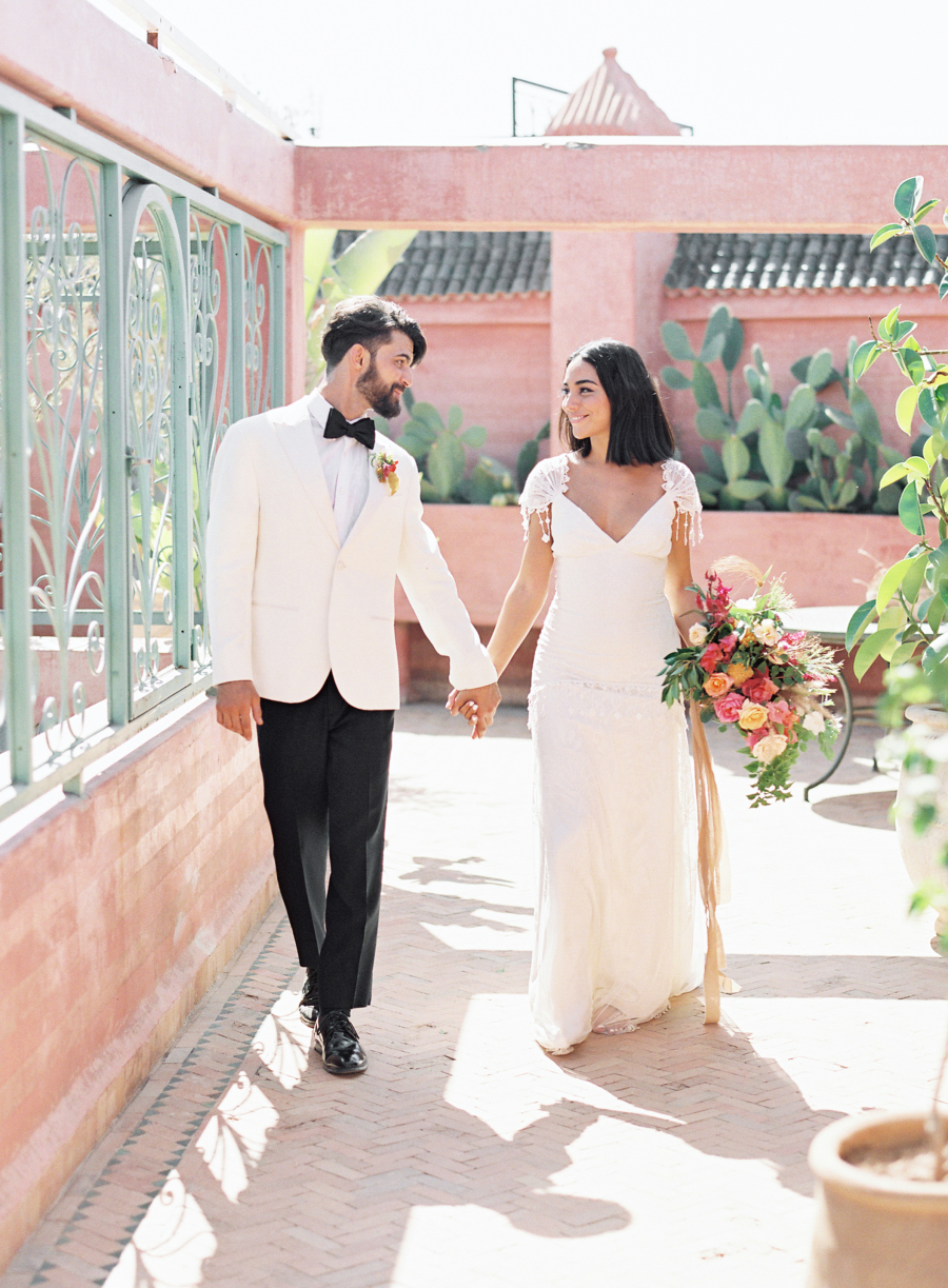 The couple headed to a private riad for the ceremony