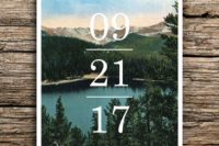 05 adventure mountain save the date as a photo card will hint on the theme and style of your wedding