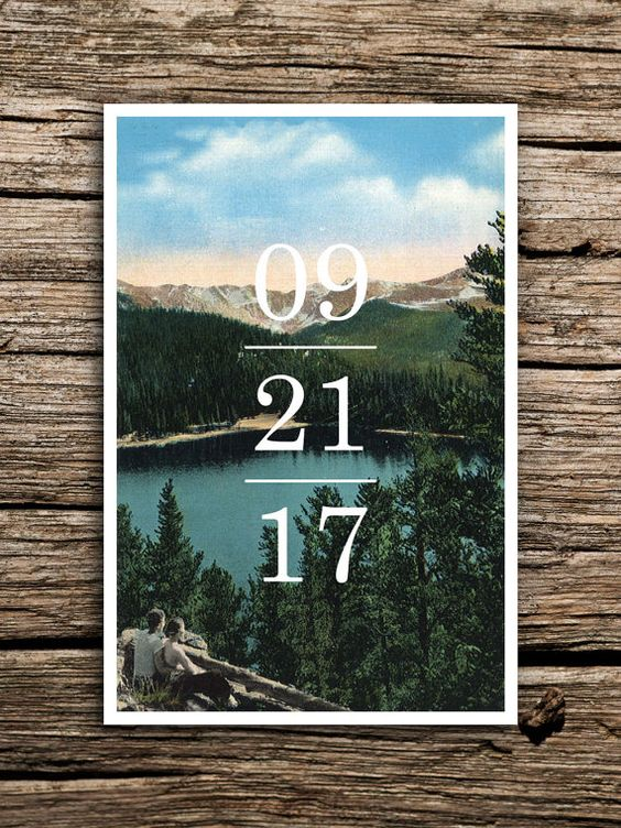 adventure mountain save the date as a photo card will hint on the theme and style of your wedding
