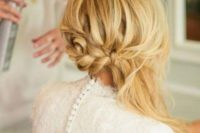 06 a braided half updo with some hair down will fit medium length hair