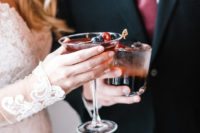 cool wedding cocktails with berrries