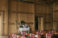07 There were plaid flannels on the chairs to keep the guests warm, and a hot cocoa bar