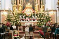 christmas wedding ceremony decor