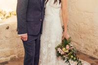 09 The groom was wearing a dark grey tweed suit and a dove grey tie