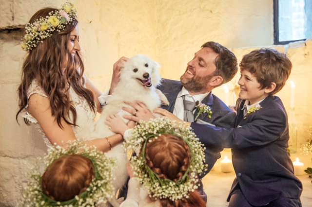 The couple's dogs also took part in the wedding