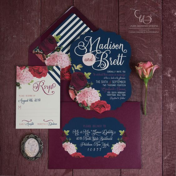 your RSVP card should match the whole invitation suite, its theme and colors