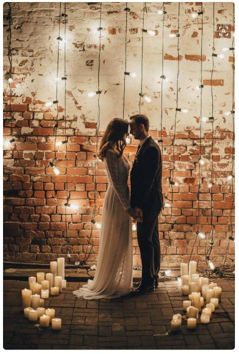 make your ceremony space magical with lights and candles around