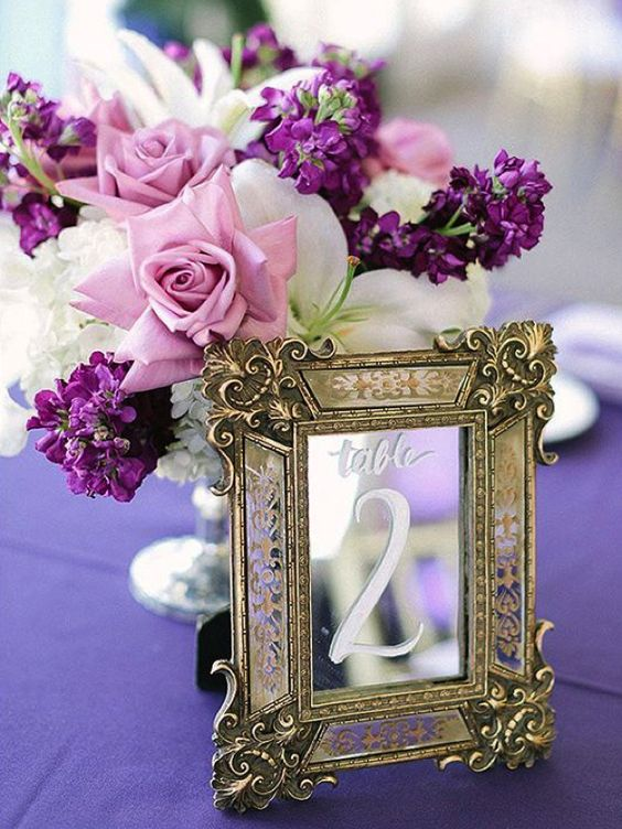 Image result for TABLE DECORATION ULTRA VIOLET
