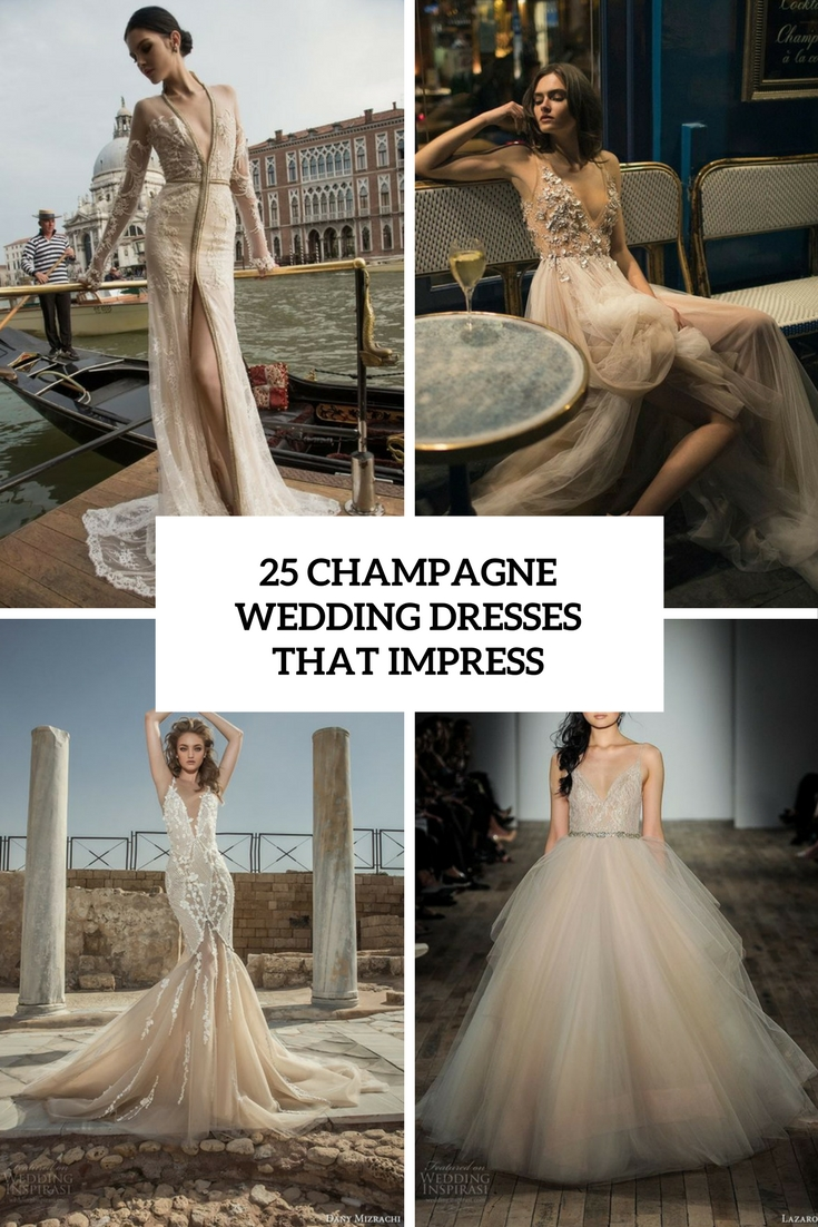 champagne wedding dresses that inspire cover