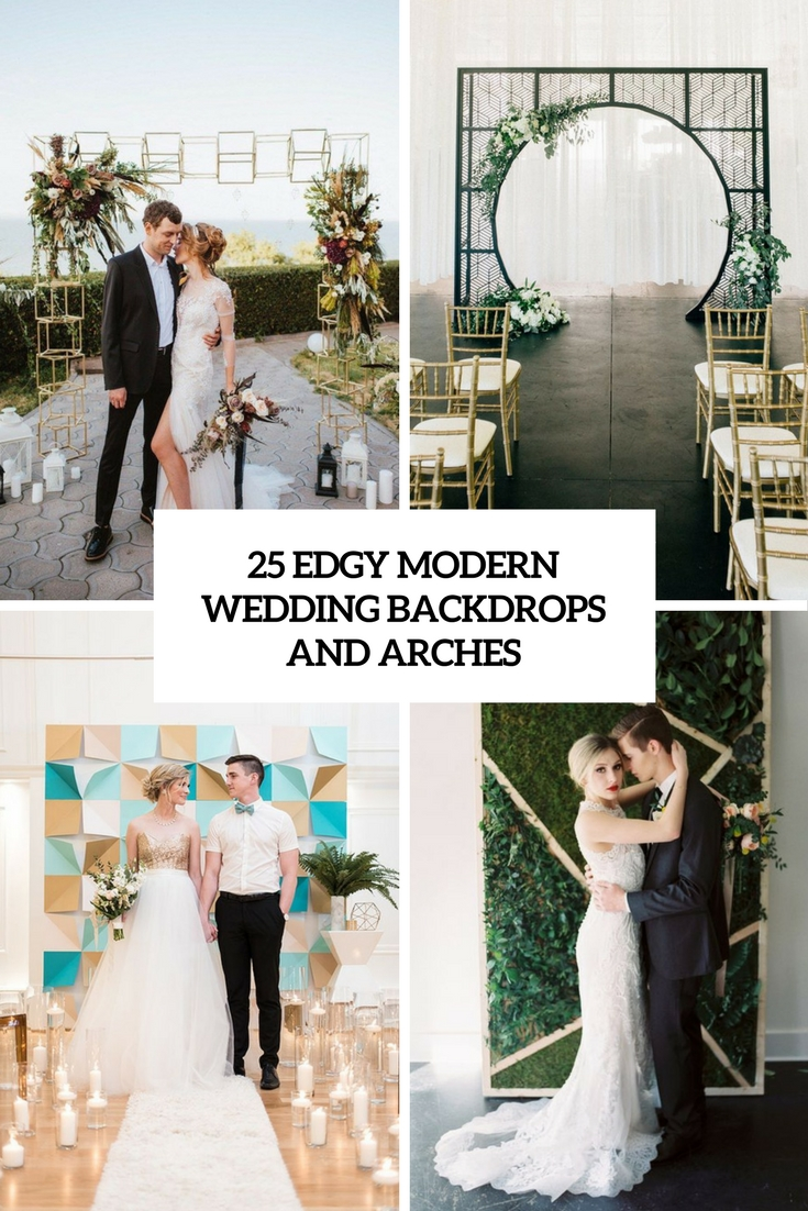 25 Edgy Modern Wedding Backdrops And Arches