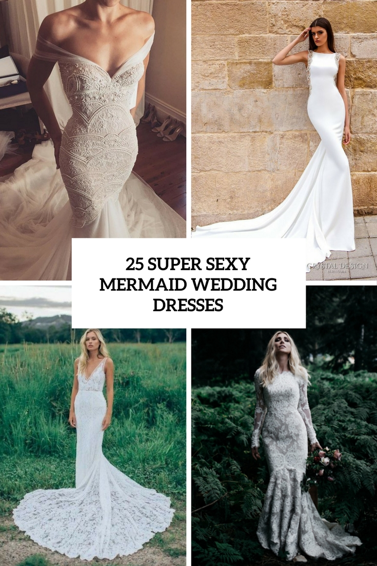 super sexy mermaid wedding dresses cover