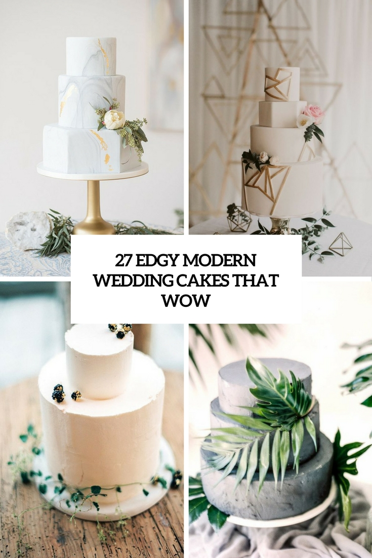 27 Edgy Modern Wedding Cakes That Wow