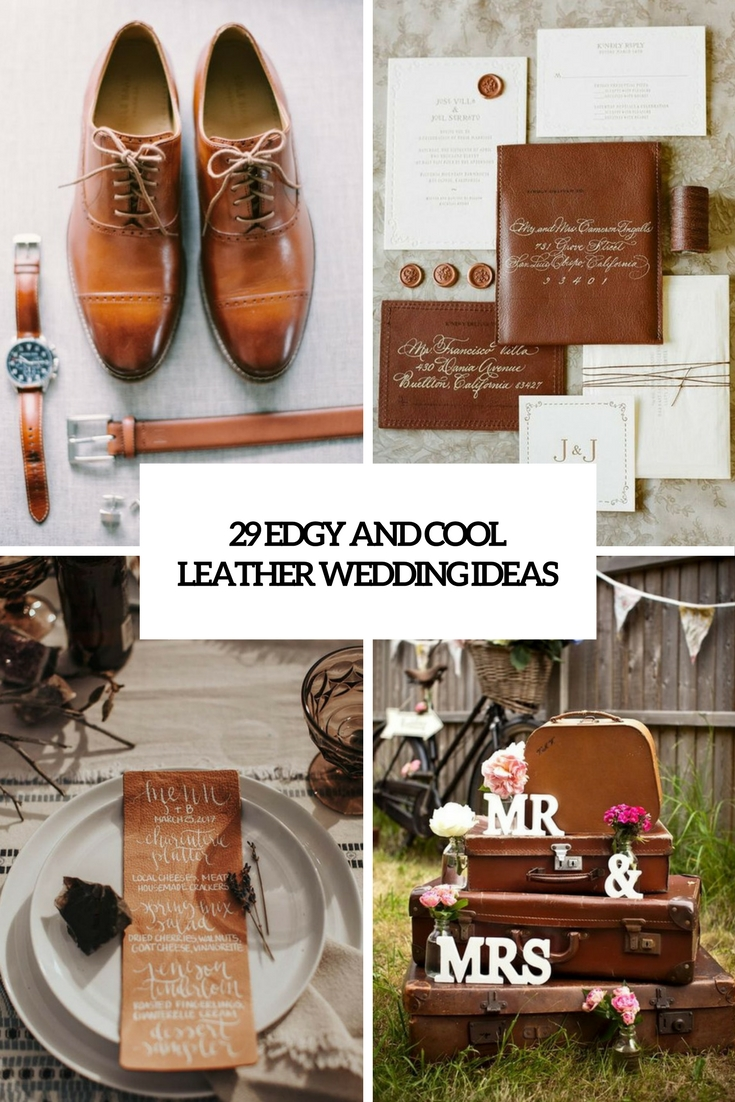 edgy and cool leather wedding ideas cover