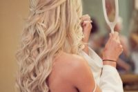 30 long wavy half updo looks timelessly chic and extremely beautiful, no need for accessories