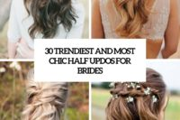 30 trendiest and most chic half updos for brides cover