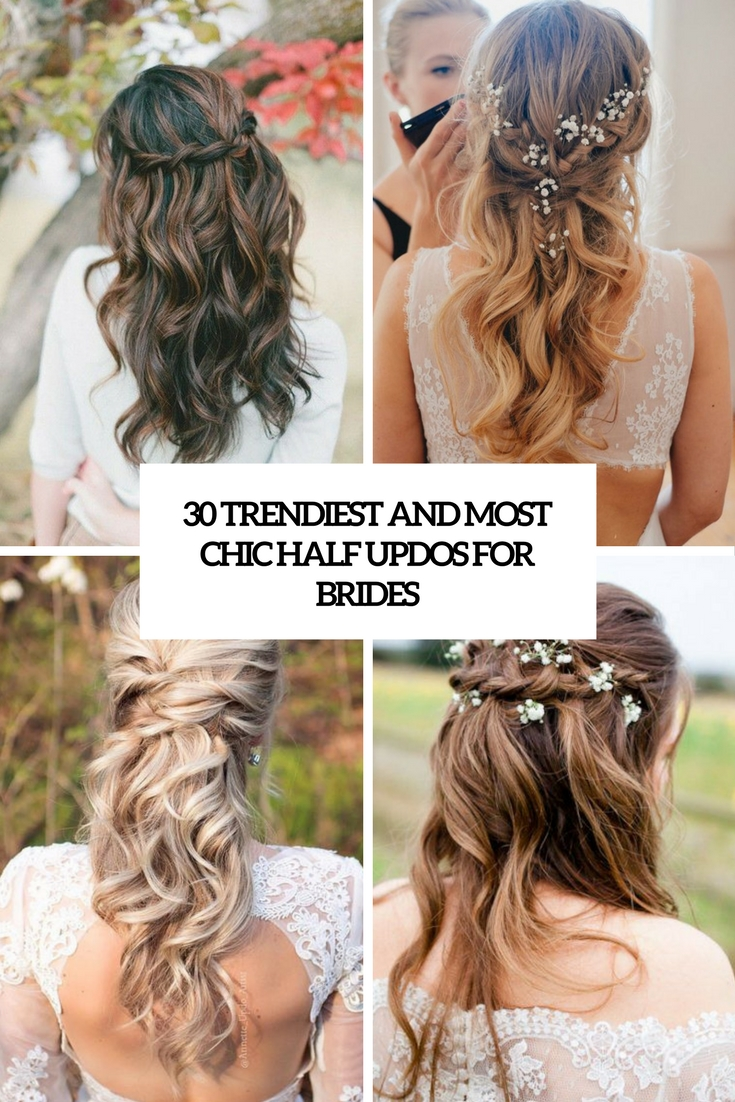 trendiest and most chic half updos for brides cover