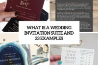 what is a wedding invitation suite and 23 examples cover