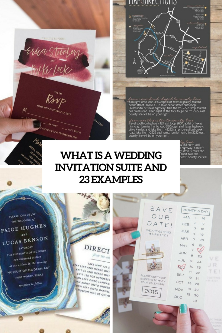 What Is A Wedding Invitation Suite And 23 Examples