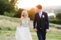 01 This couple opted for a French chateau wedding with a relaxed feel and romantic decor