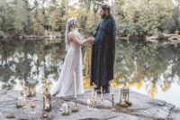 01 This wedding shoot is inspired by Game of Thrones and shows a wedding ceremony of Danny and Jon