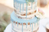 drip naked wedding cake