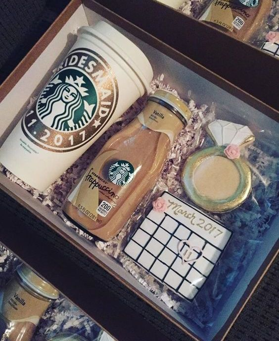 a cute kit of a coffee cup, a frapuccino bottle and a couple of cookies