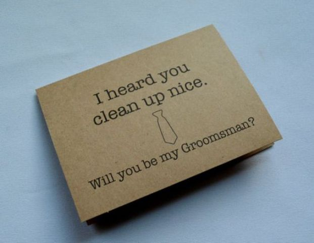 such a card is a funny way to ask your close friends to be your groomsmen